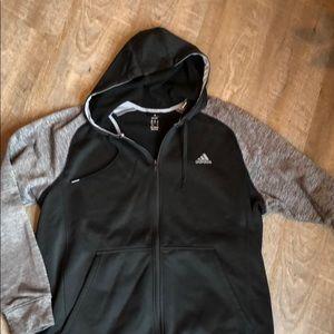 Men's full-zip Adidas sweatshirt.